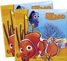 20 Finding Nemo Theme Paper Party Napkins